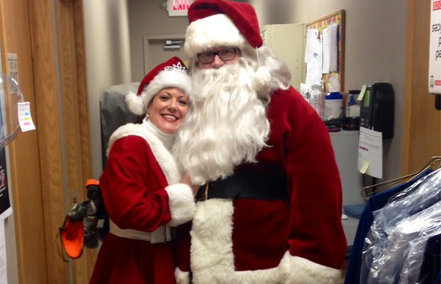 Santa's on the Roof at United Blood Services